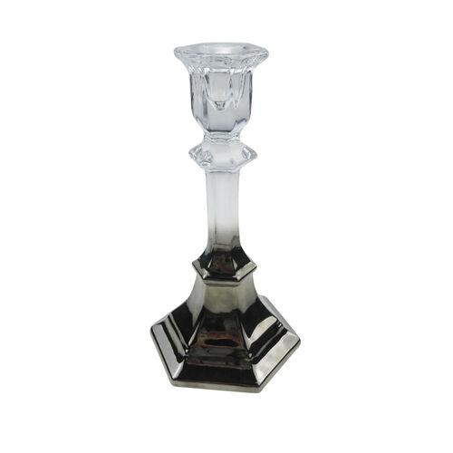 Medium Nickle Plated Pillar Candleholder