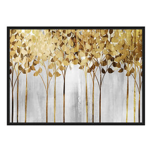 Forest Of Gold Print Framed Gold Foil