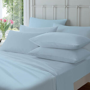 Flannelette Housewife Pillowcases Blue