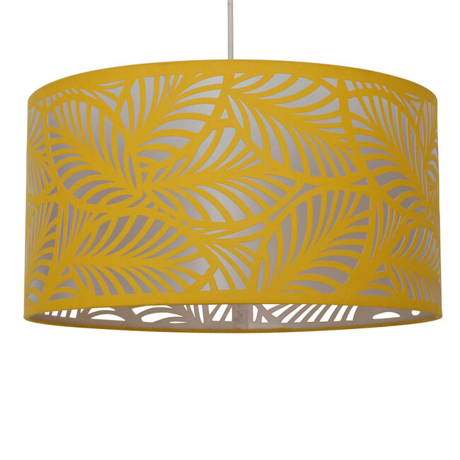 Laser Cut Leaf Shade - Mustard