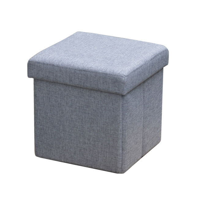 Deluxe Grey Charcoal Grey Folding Ottoman