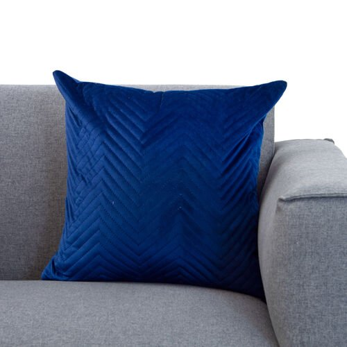 Triangle Stitch Cushion 58x58cm - Navy