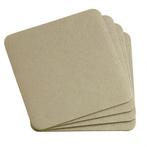 Leather Gold Coasters 4 Pk