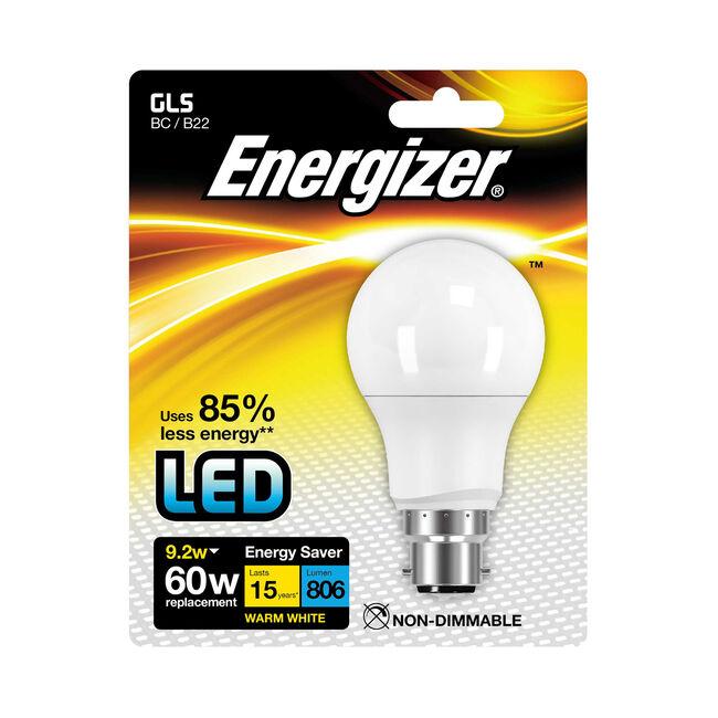 Energizer GLS B22 LED Bulb Opal 92W (EQ60W)