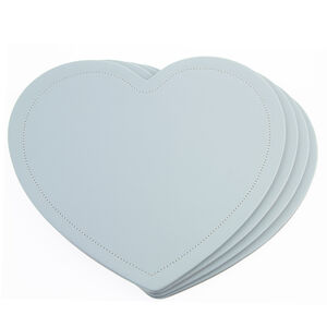 Reversible Heart Grey & Duck Egg Placemats