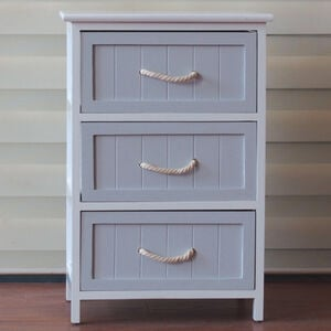 Hampton Nautical 3 Drawer Storage Unit