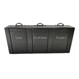Set of 3 Canisters - Matt Black