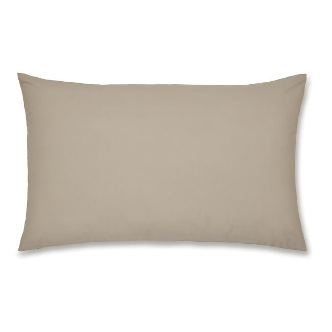 Luxury Percale Housewife Pillowcase Pair - Natural
