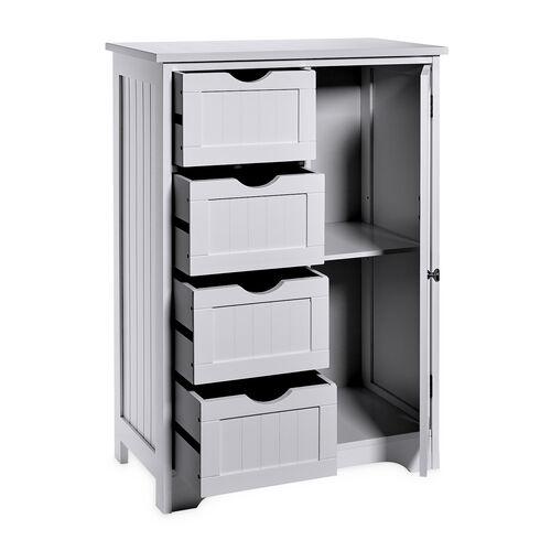 Porto Bathroom Cabinet with 4 Drawers - Grey