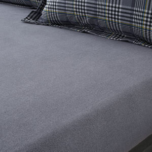 Brushed Cotton Wall Check Fitted Sheet
