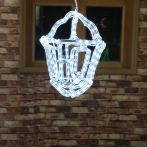 3D Hanging Lantern Rope Light - Bright White