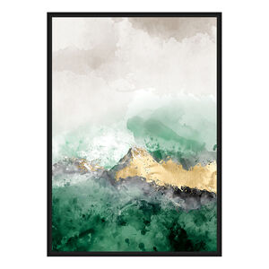 Juniper Green Print Framed Foil Finish