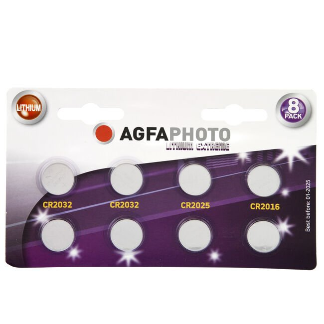 Agfa Photo Lithium Extreme 8 Pack Coin Cell