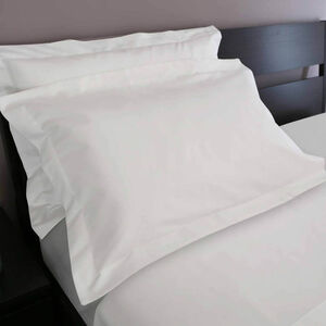 200TC Cotton Oxford Pillowcase Pair - White
