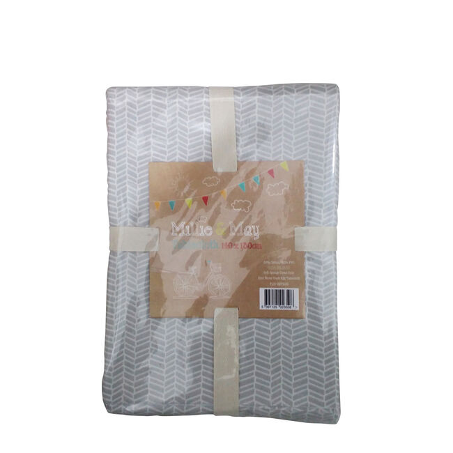 Two Tone Tablecloth 140x180cm - Duck Egg/Grey