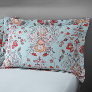 Paisley Oxford Pillowcase Pair - Duck Egg