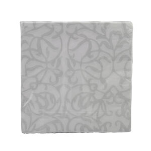 Ivy Silver Napkin 20 Pack