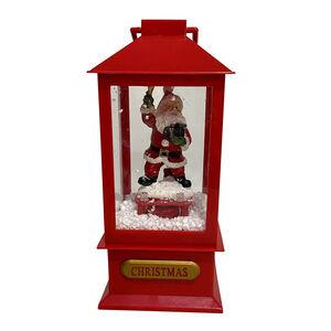 Mini Snowing Santa Lantern