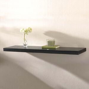 Capri Black Floating Wall Shelf Set 120cm