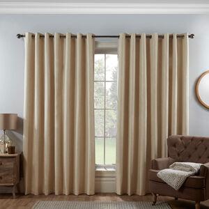 BLACKOUT & THERMAL BASKETWEAVE GREY 66x72 Curtain
