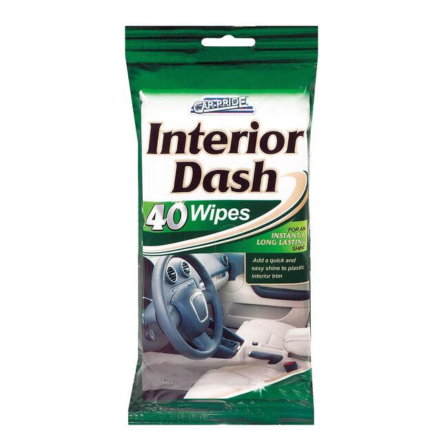 Car Interior Clean & Shine Wipes 40 Pack