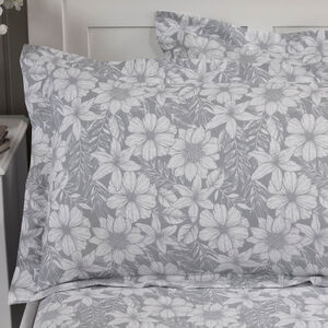 300TC Cotton Floral Sketch Oxford Pillowcase Pair