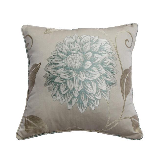 Floral Burst Cushion 45x45cm - Duck Egg