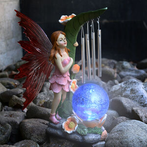 Solar Fairy Windchime Crackle Ball Light