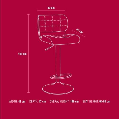 Hector Bar Stool - Cream