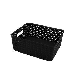 14.5L Basket Black 37x30x13cm