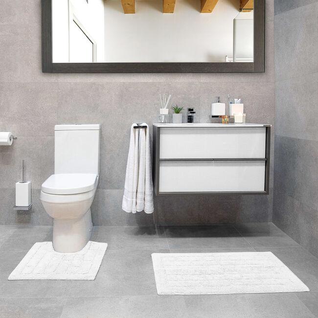 Cotton Brick White Pedestal Mat 50x50