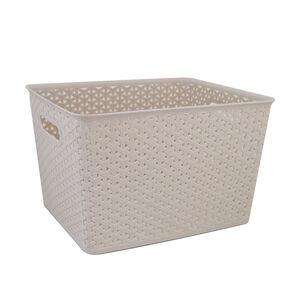 Geometric 19L Soft Grey Basket