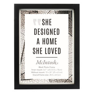 McIntosh Black Photo Frame 5x7""