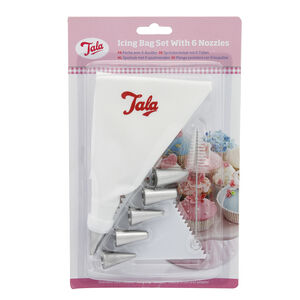 Tala Icing bags 6 Nozzles Scraper and Brush