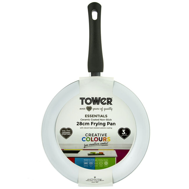 Tower Ceramic Black Frying Pan 28cm