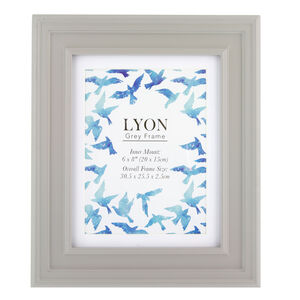 Lyon Grey Photo Frame 6x8""