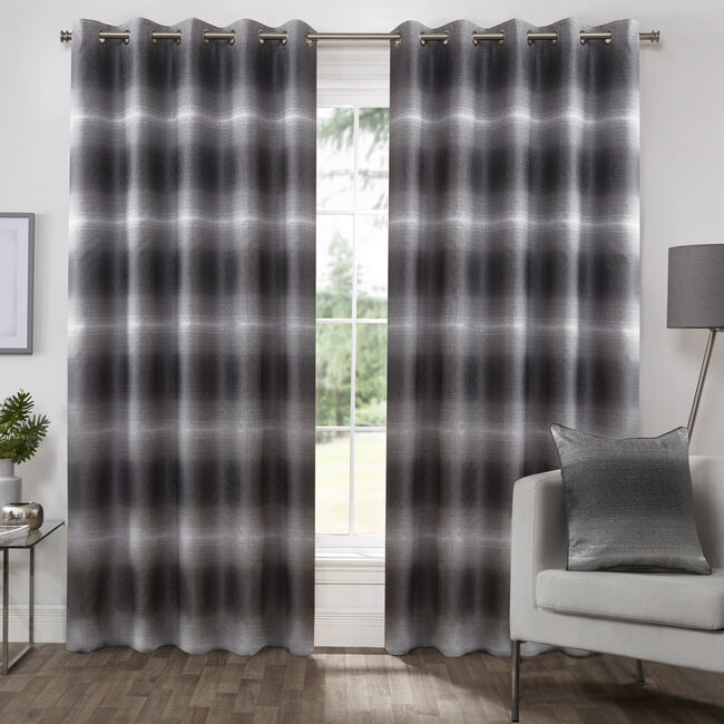 MIDNIGHT BLACK  66X54 Curtain