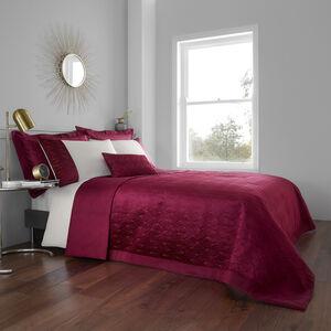 Harlow Bedspread 200x220cm - Berry