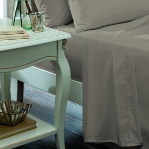 SINGLE FLAT SHEET Luxury Percale Grey