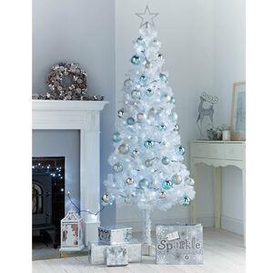 6Ft White Slim Christmas Tree