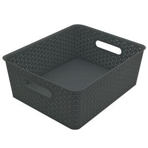Geometric 14.5L Grey Basket
