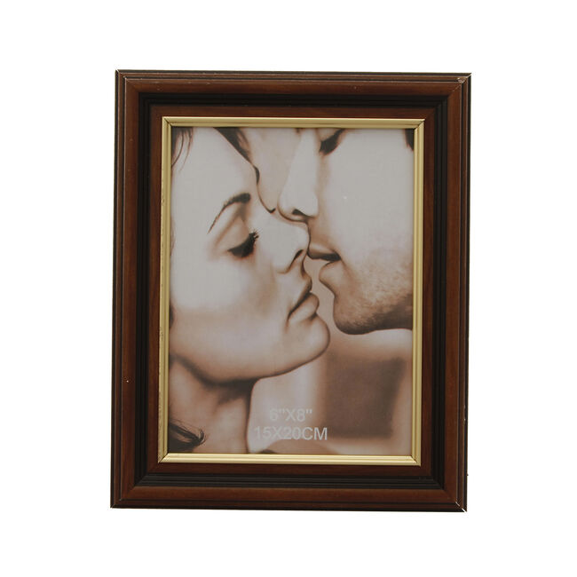 Brown & Gold Photo Frame 6x8""