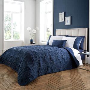 Olivia Marie Bedspread 220x230cm - Navy