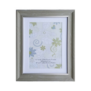 "Natural & Silver Photo Frame 8x12"" (A4)"