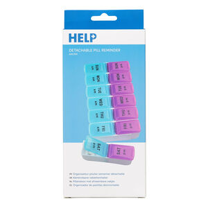 Help Weekly Pill Twice Daily Detachable Pill Box