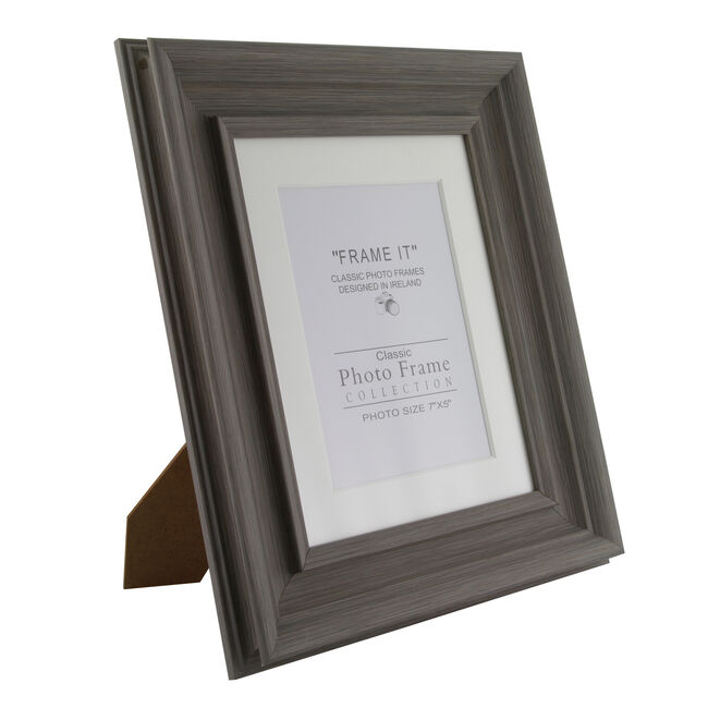 Slate Grey Photo Frame 5x7""