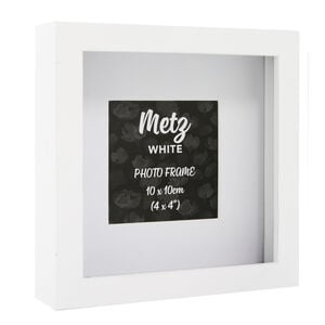 Metz White Photo Frame 4x4""