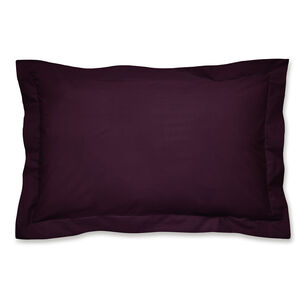 Luxury Percale Oxford Pillowcase Pair - Plum