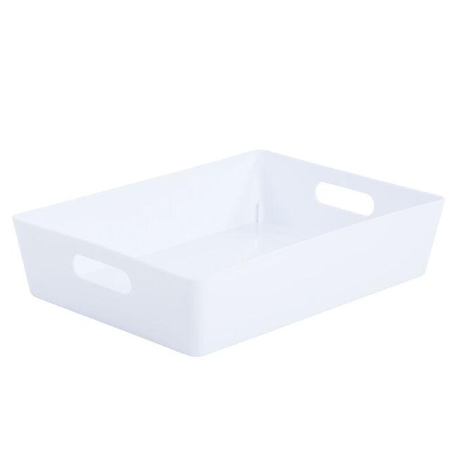 Studio 5.01 Rectangular Basket Ice White
