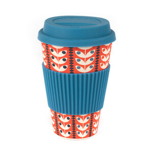 Retro Daisy Blue Bamboo Sippy Mug
